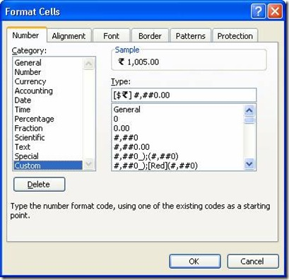 Indian Rupee Symbol In Excel Cell Format Ms Coder